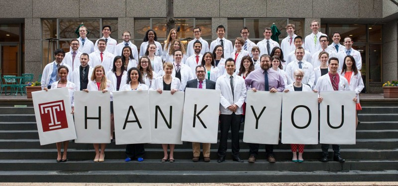 A thank you from medical students to donors.