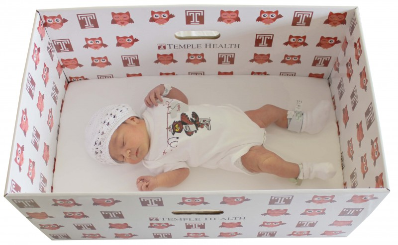 Temple university hospital to provide free baby boxes to mothers of newborns in order to promote safe newborn sleep