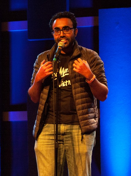 Zeeshan, a Temple Internal Medicine resident, performs at World Cafe Live in Philadelphia.