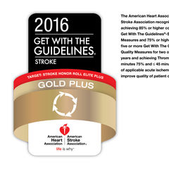 Temple University Hospital Earns American Heart Association / American Stroke Association's Get With The Guidelines® – Stroke Plus Gold Award