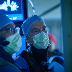 Gerard Criner in the lung operating room