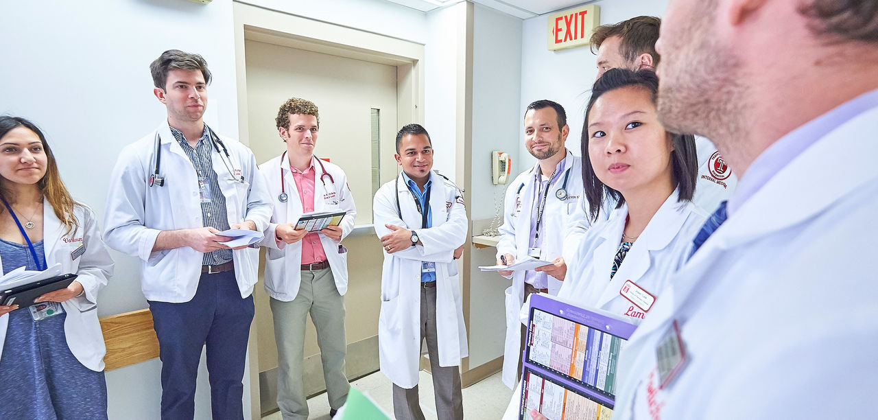 Internal Medicine residents rounding at Temple University Hospital in July 2016