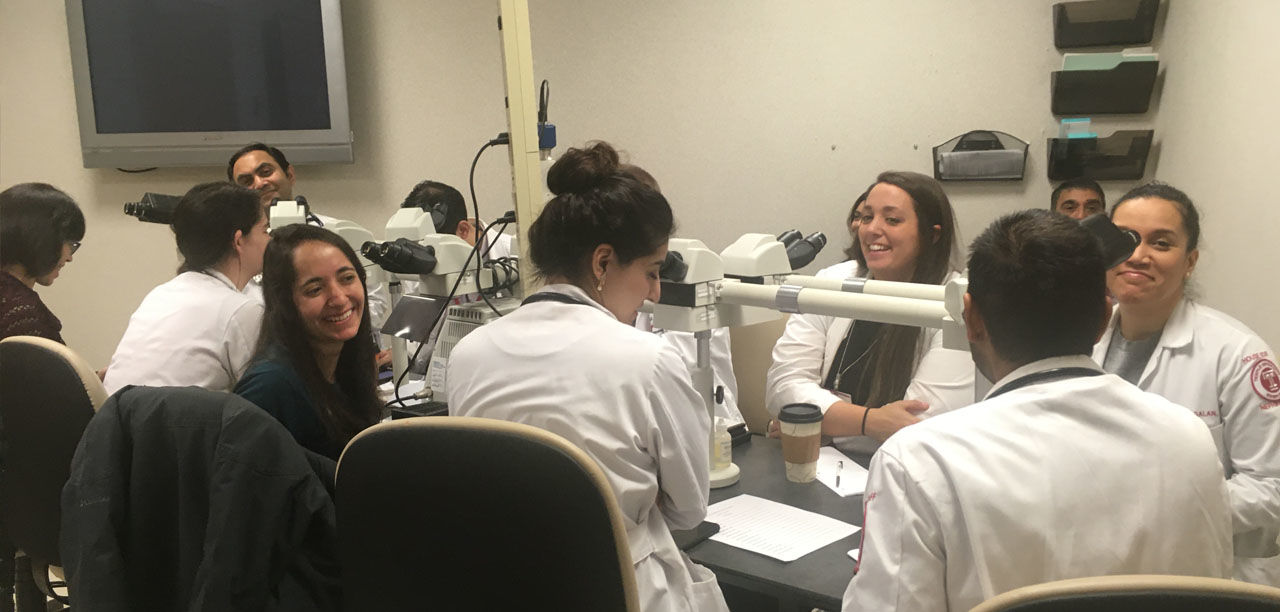 Weekly renal biopsy conference led by our renal pathologist