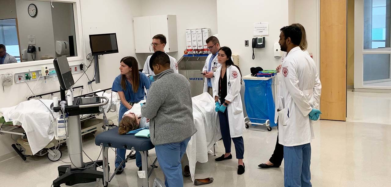 Residency Group in Simulation Center