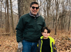 Dr. Rick Martin with his grandson